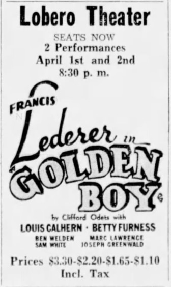 1938: Onstage on this Date